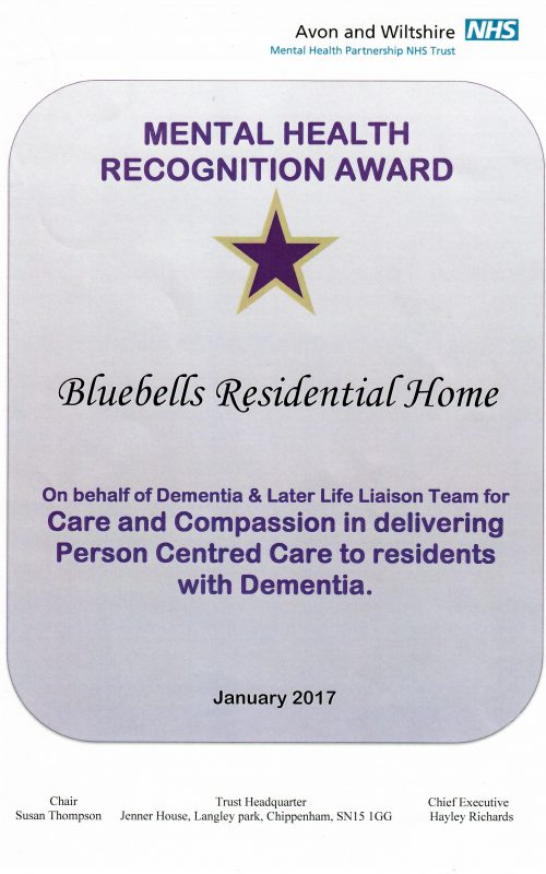 Mental Health Recognition Award
