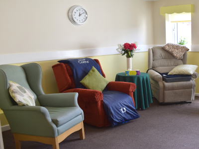 One of our lounges with individual recliner chairs and pressure relieving aids as required